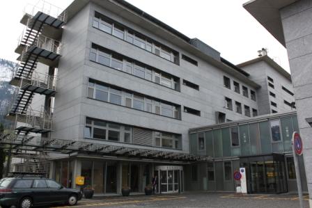 Hallenbad Stans Haupteingang