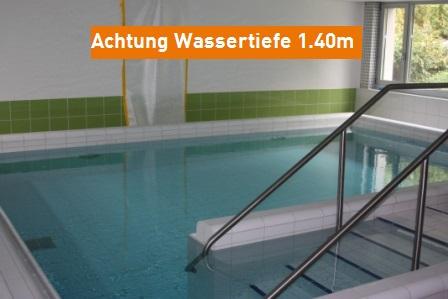 Hallenbad Frankental Wassertiefe