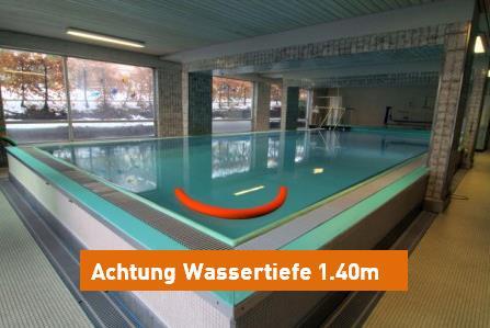 Hallenbad Battenberg Wassertiefe