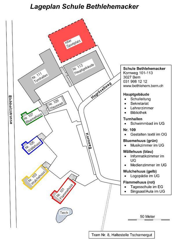 Hallenbad Bethlehemacker Lageplan