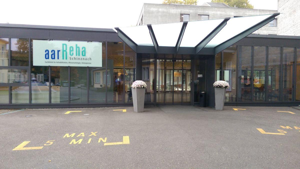Hallenbad aarReha Eingang